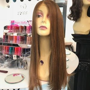 Accessories - Fullcap Wig Swisslace ponytail baby hair wig new